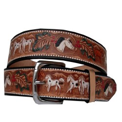 Belt decorated horses 40 mm