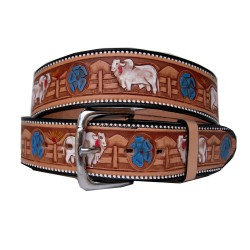 Belt decorated bull cebu 40 mm