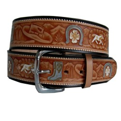 Horse decorated belt and boot 40 mm