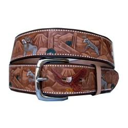 Belt decorated deers 40 mm