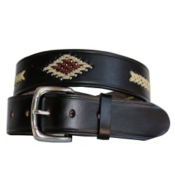 Belt woven rhombus and braid 40mm
